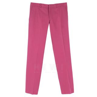 Hermes Pink Tailored Men's Trousers