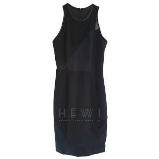 Yigal Azrouel sleeveless mesh panelled mini dress