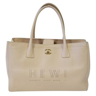 Chanel Beige Cerf Leather Tote Bag