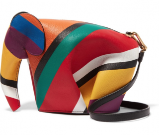 Loewe Striped Elephant Clutch Bag