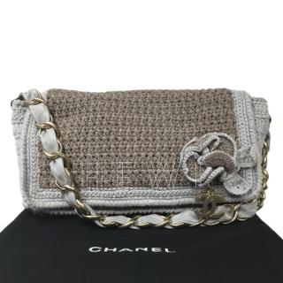 Chanel Crochet Camellia Vintage Flap Bag