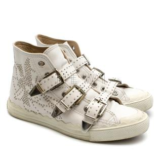 Chloe 'Kyle' Studded High-Top Leather Sneakers