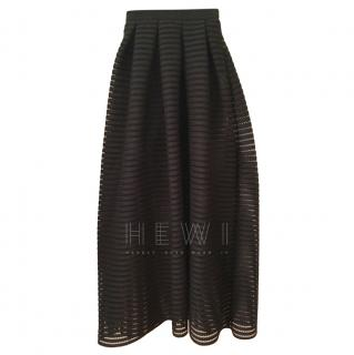 Maje Black Semi Sheer Skirt