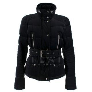 Belstaff black velvet jacket with down-duvet padding