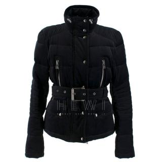 Belstaff black velvet jacket with down-duvet padding
