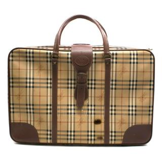Burberry Horseferry Check Leather Trim Suitcase