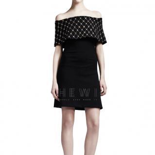 Alexander McQueen Crystal Fold Mini Dress