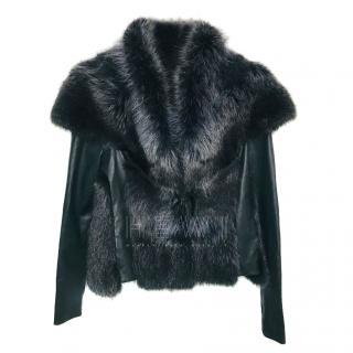 Hockley Racoon Fur & Leather Valeria Jacket