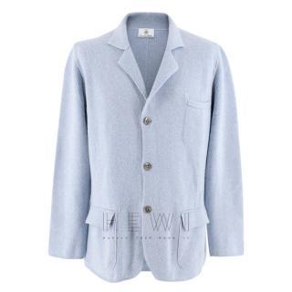 Emanuele Maffeis cashmere blue blazer