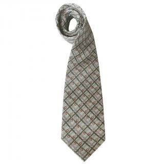 Lancel Lilac and Sage Silk Tie
