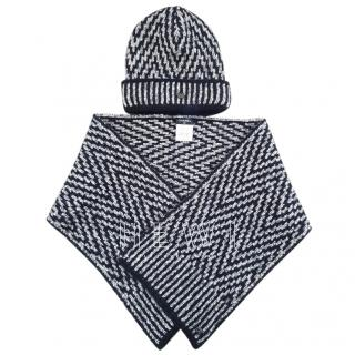 Chanel Wool, Mohair & Alpaca Blend Hat & Scarf