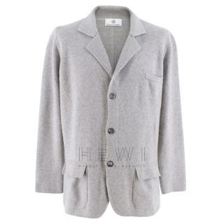 Emanuele Maffeis grey cashmere blazer