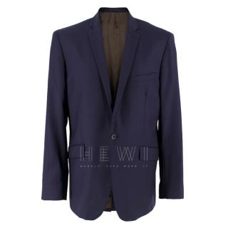 Spencer Hart Navy Blue Wool Blazer