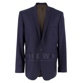 Spencer Hart Navy Blue Wool Blazer