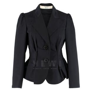 Lanvin Black Silk Blend Fitted Blazer