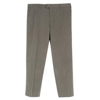Loro Piana Grey Men's Tailored Trousers