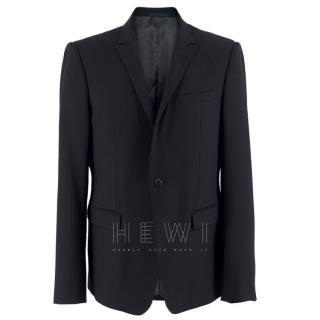 Armani Navy Blue Wool Blend Jacket