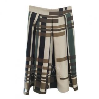 Sportmax Silk Pleated Skirt