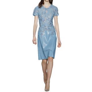 Jenny Packham Crystal Embellished Baby Blue Dress
