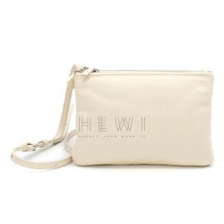 Celine Cream Puffy Trio Crossbody Bag