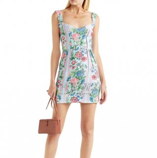 Emilia Wickstead Judita Floral Cloque Mini Dress