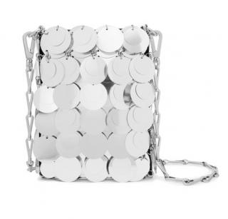 Paco Rabbane Sparkle 1969 mini sequined faux leather shoulder bag