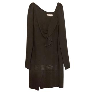 Valentino Black Draped Shift Dress