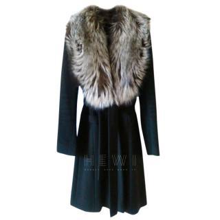 Valentino Cashmere Coat w/ Removeable Fox Fur Collar