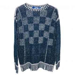 Junya Watanabe for Comme des Garcons Blue Knit Jumper