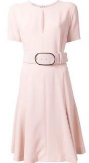 Stella Mccartney Short-Sleeve Keyhole Belted Dress
