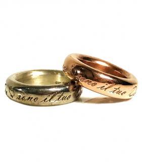Dodo Pomellato Sono Il Tuo Dodo Rose Gold & Silver Ring