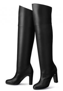 Hermes black leather Defile Boots