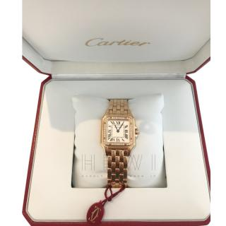 Cartier Diamond and rose gold Panthere reissue collection watch 2017