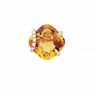 Chanel Fine Jewellery Madeira Citrine and diamond Paladienne Ring