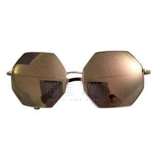 Linda Farrow/Matthew Williamson hexagonal sunglasses