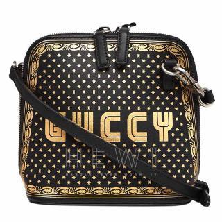 Gucci Black & Gold Guccy Mini Crossbody Bag