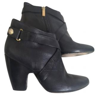 Just Cavalli black leather ankle boots