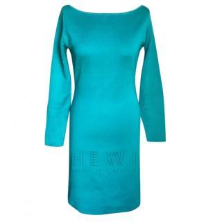 Ralph Lauren Black Label Turquoise Silk Dress