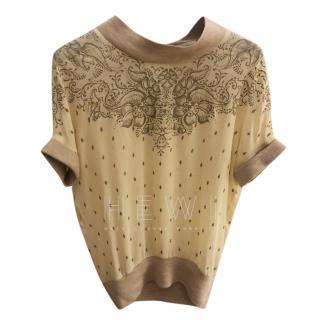 Isabel Marant Silk & Wool Printed Jumper