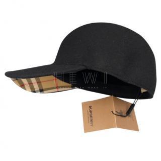 Burberry Cashmere & Wool Baseball Cap