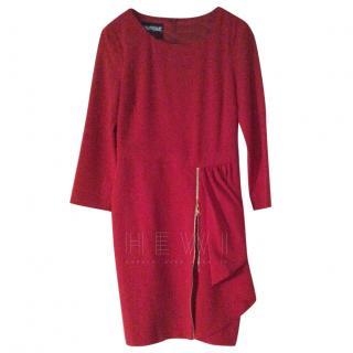 Boutique Moschino Red Draped Dress