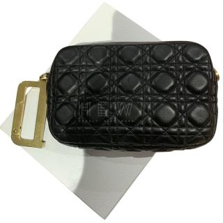 Dior Black Cannage Leather D Ring Clutch Bag