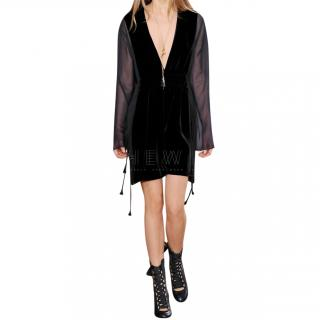 Chloe Velvet & Chiffon Mini Dress