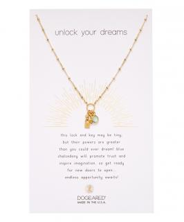 Dogeared Chalcedony & Gold-Plated Unlock Your Dreams Pendant Necklace