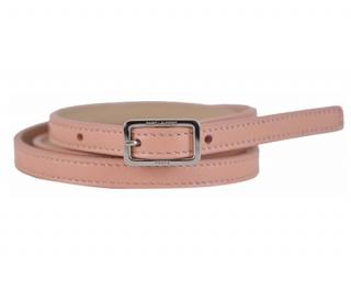 Saint Laurent skinny pink leather belt