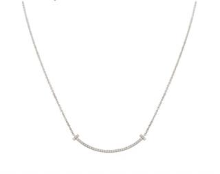 Tiffany & Co. White Gold Diamond Pendant Necklace