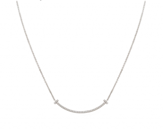 Tiffany & Co. White Gold Diamond Pendant Necklace