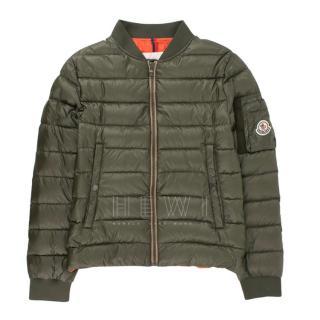 Moncler Kids Khaki Bomber Jacket