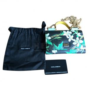 Dolce & Gabbana Sicily Lily Print Wallet on Chain