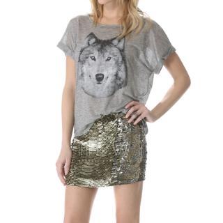 Haute Hippie cobra sequin skirt